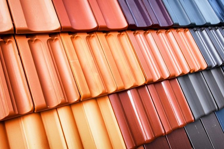 different colour shingles