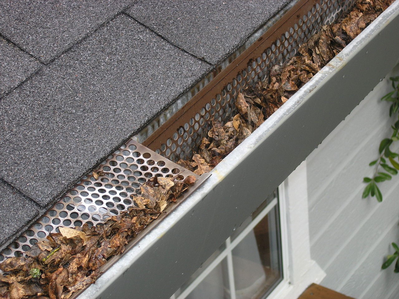 Gutters of a persons home