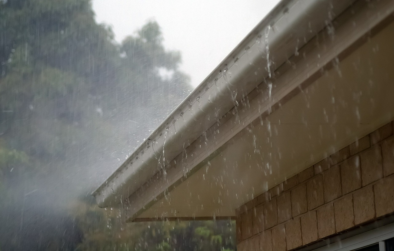 Raining on gutters