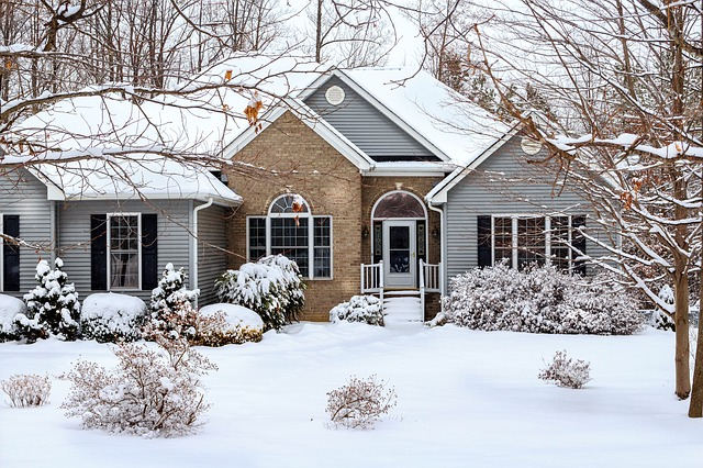 A house in canadian winter