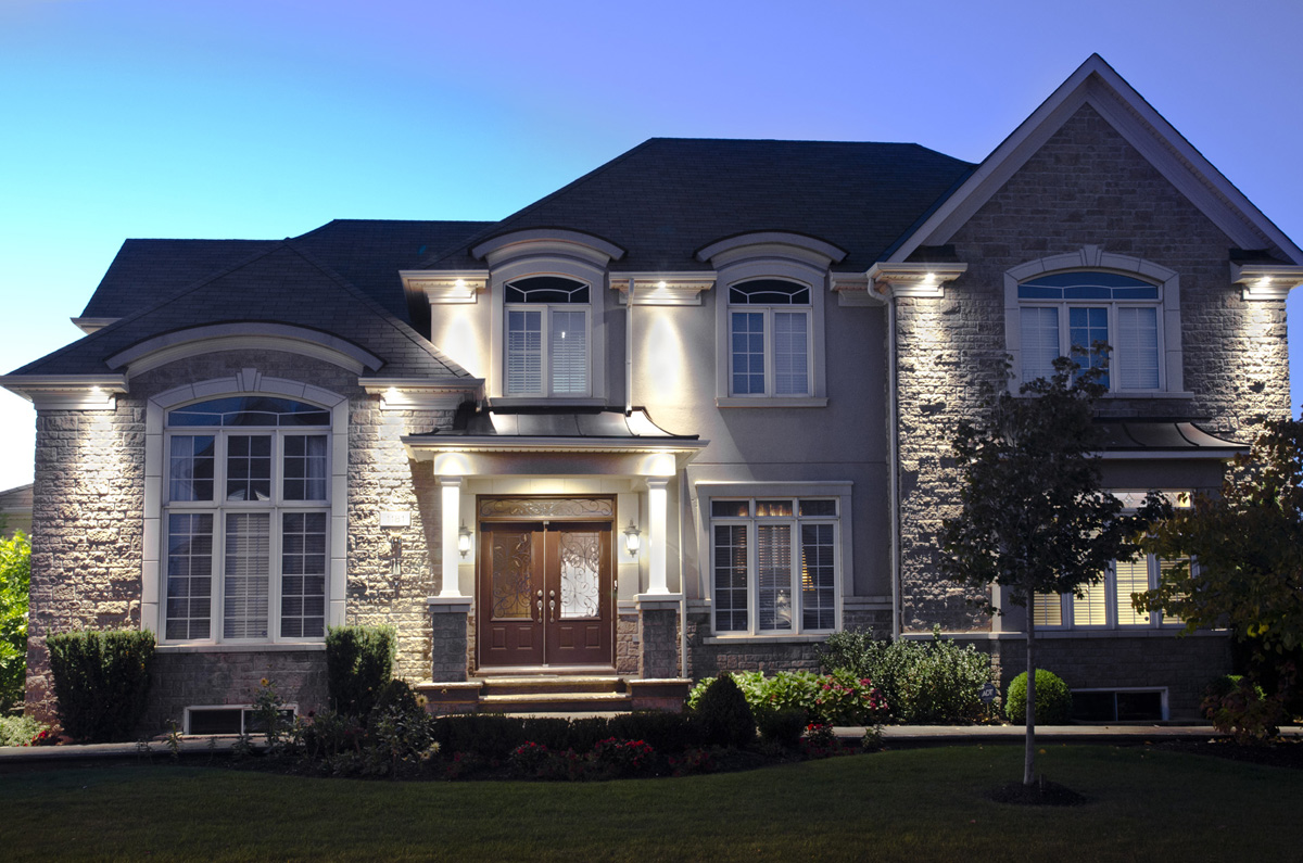 Exterior lighting in hamilton d angelo sons roofing exteriors